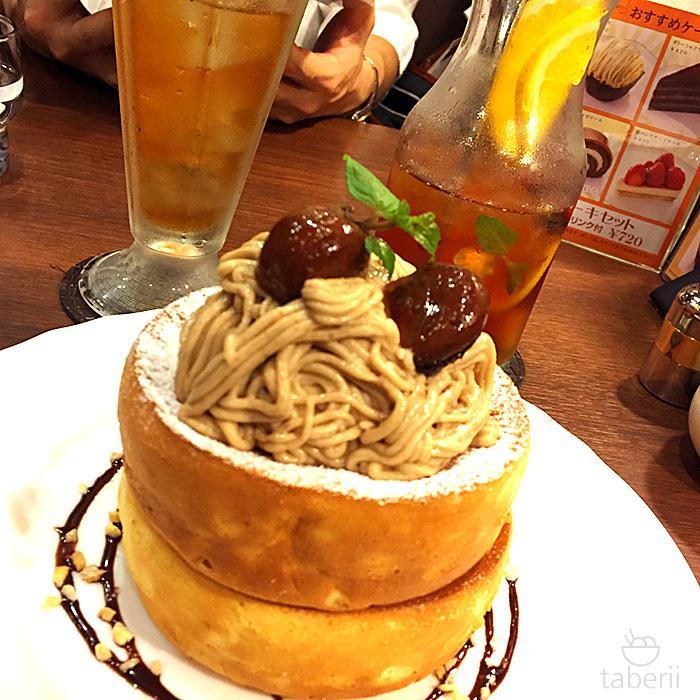 栗のスフレパンケーキ3星乃珈琲