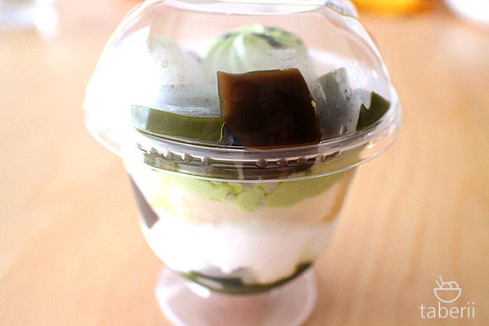 宇治抹茶とほうじ茶の和ぱふぇ2