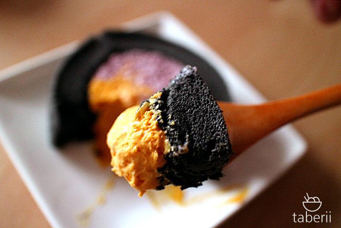 プレミアムかぼちゃ&紫芋ロールケーキ6