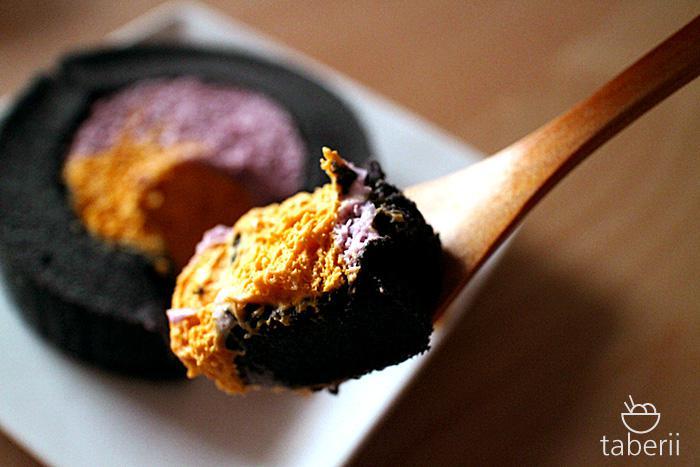 プレミアムかぼちゃ&紫芋ロールケーキ5